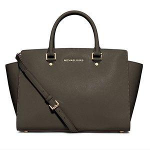 Large Olive Michael Kors Selma Bag